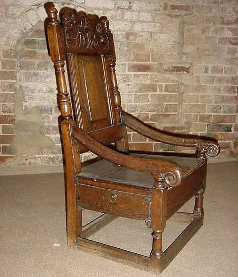 Antique Oak Nursing Chair - Antique Oak Nursing Chair - Chairs, Settles