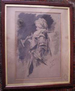 Etching of Turbaned Warrior - £75