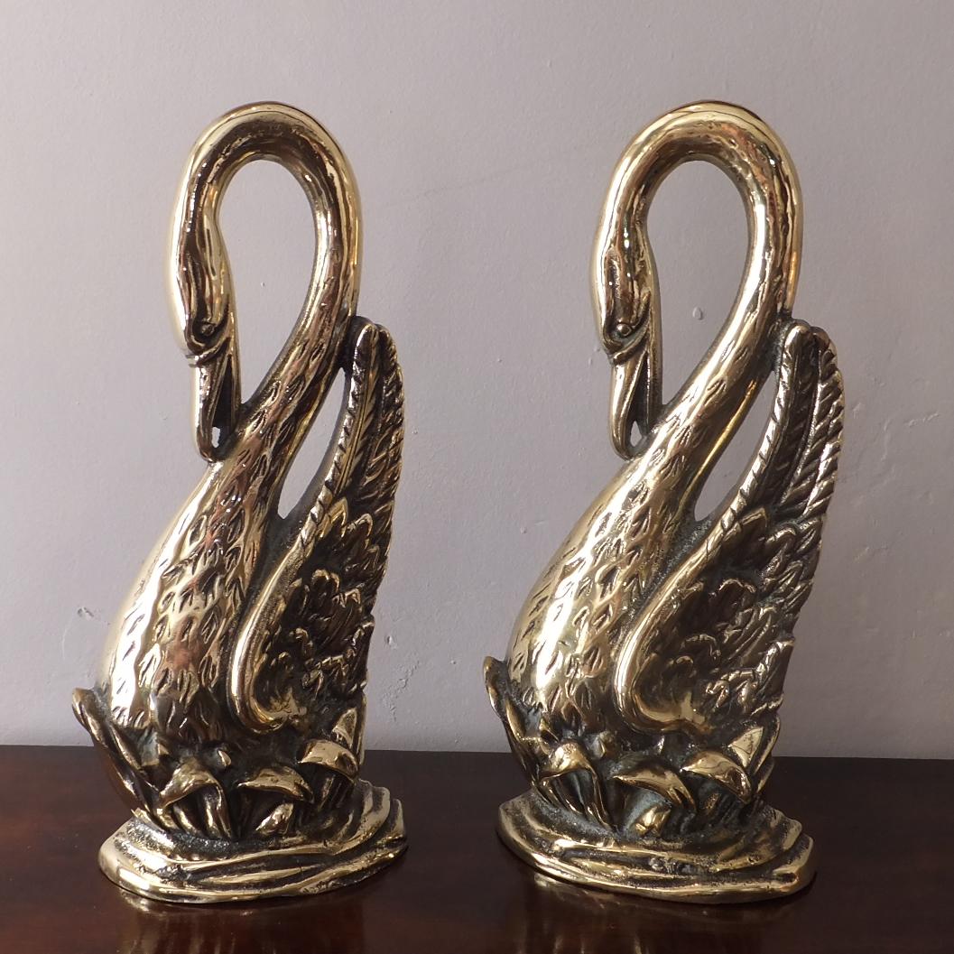 Pair Of Edwardian Brass Door Stops