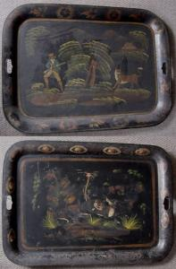 Pair of Toleware Trays - £850