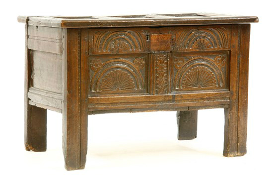 17c Oak Chest  RESERVED - £795
