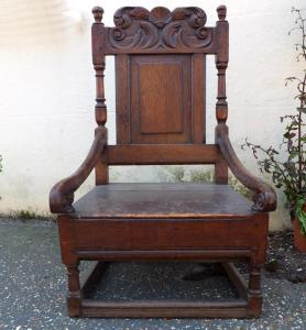 17c Oak Nursing Chair - £495