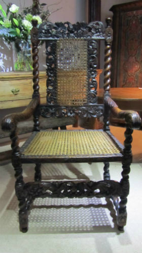 17c Walnut armchair - £750