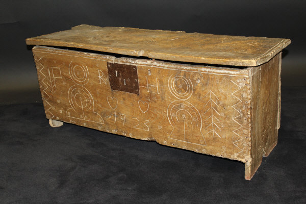 18c Elm Six Plank Coffer - £595