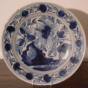 18th c Delft Charger - £225