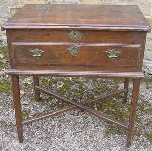 18th century Oak Table/Silver Chest - £195
