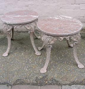 2 Marble Topped Side Tables - £325