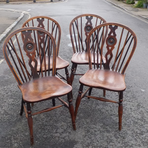 Good set of four Windsor chairs - £595