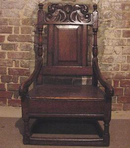 Antique Oak Nursing Chair - £550