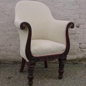 Antique Upholstered Chair - £395