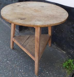 Ash and Pine Cricket Table - £650