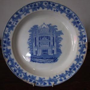 Blue and White Plate. Plate Vauxhall Gardens - PoA