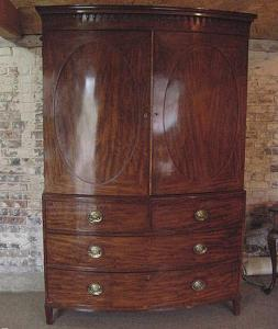 Bow Fronted Linen Cupboard - £4,950