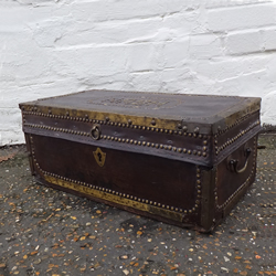 Eary 19c leather trunk - £175