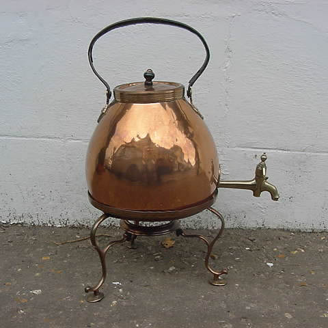 Brass And Copper Tea Urn Metalware