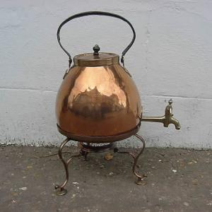 Brass and Copper Tea Urn - £295
