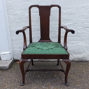 18c Walnut Open Armchair - £975