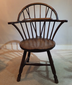 18c Antique Walnut Hoop Back Chair - £675