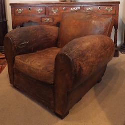 1920s Leather Armchair - £475