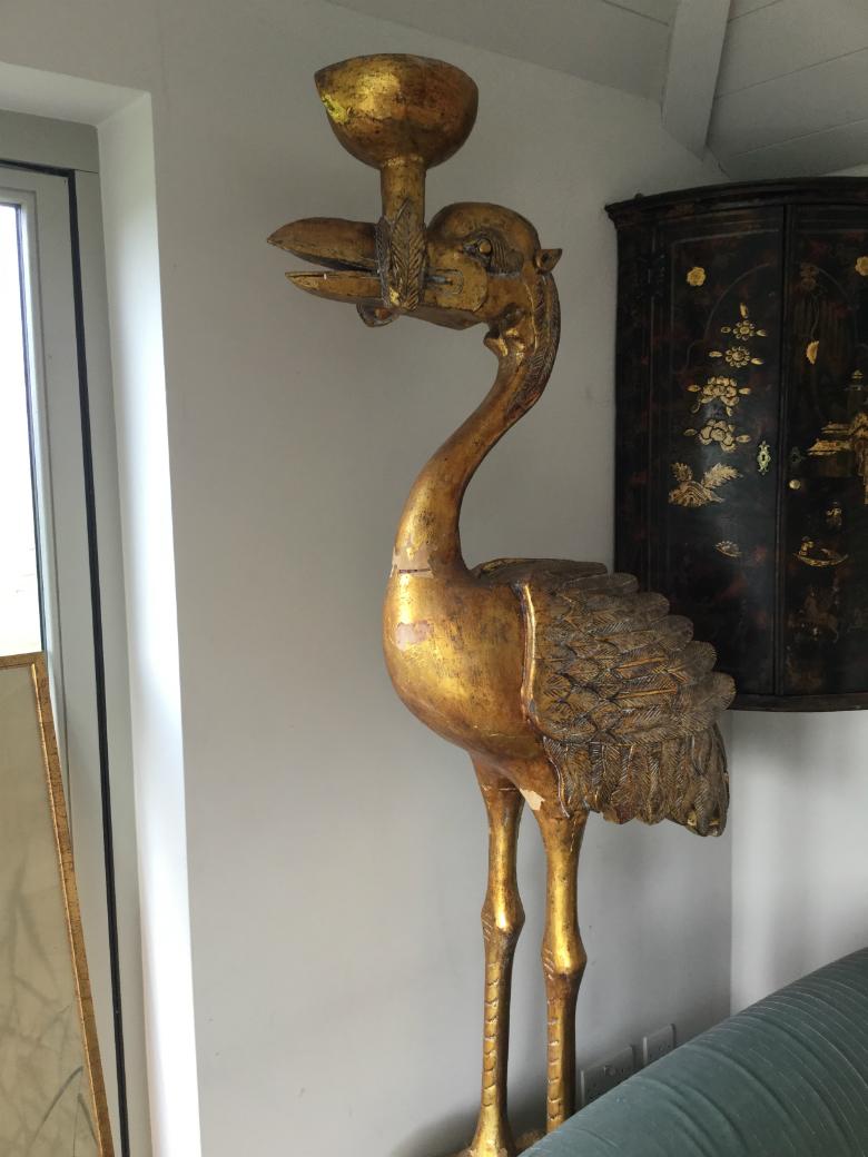 Plaster Statue   £295 Fabulous Gilded Birds   PoA ...