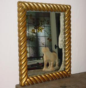 Gilt Spiral Twist Mirror - £165