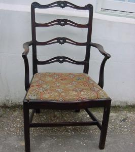 Ladder Back Armchair - £275