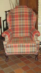 Large wing armchair - £875