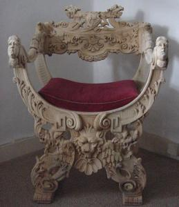 Ornate Carved Armchair - £490