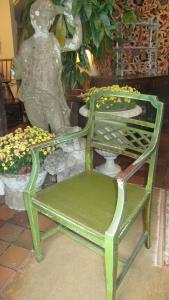 Painted occasional armchair - £175