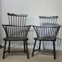 Painted Comb back Armchairs - £1,650