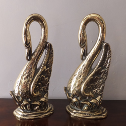 Pair of Edwardian Brass Door Stops - £275