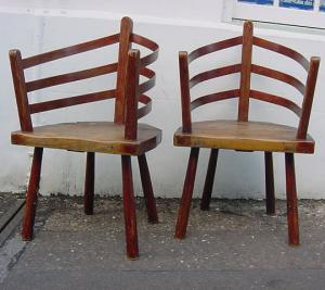 Pair of Rustic Chairs - £450