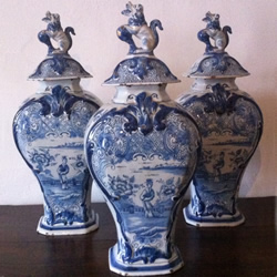 Delft vases and covers - £875