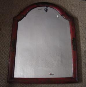 Red Lacquer Hanging Mirror - £275