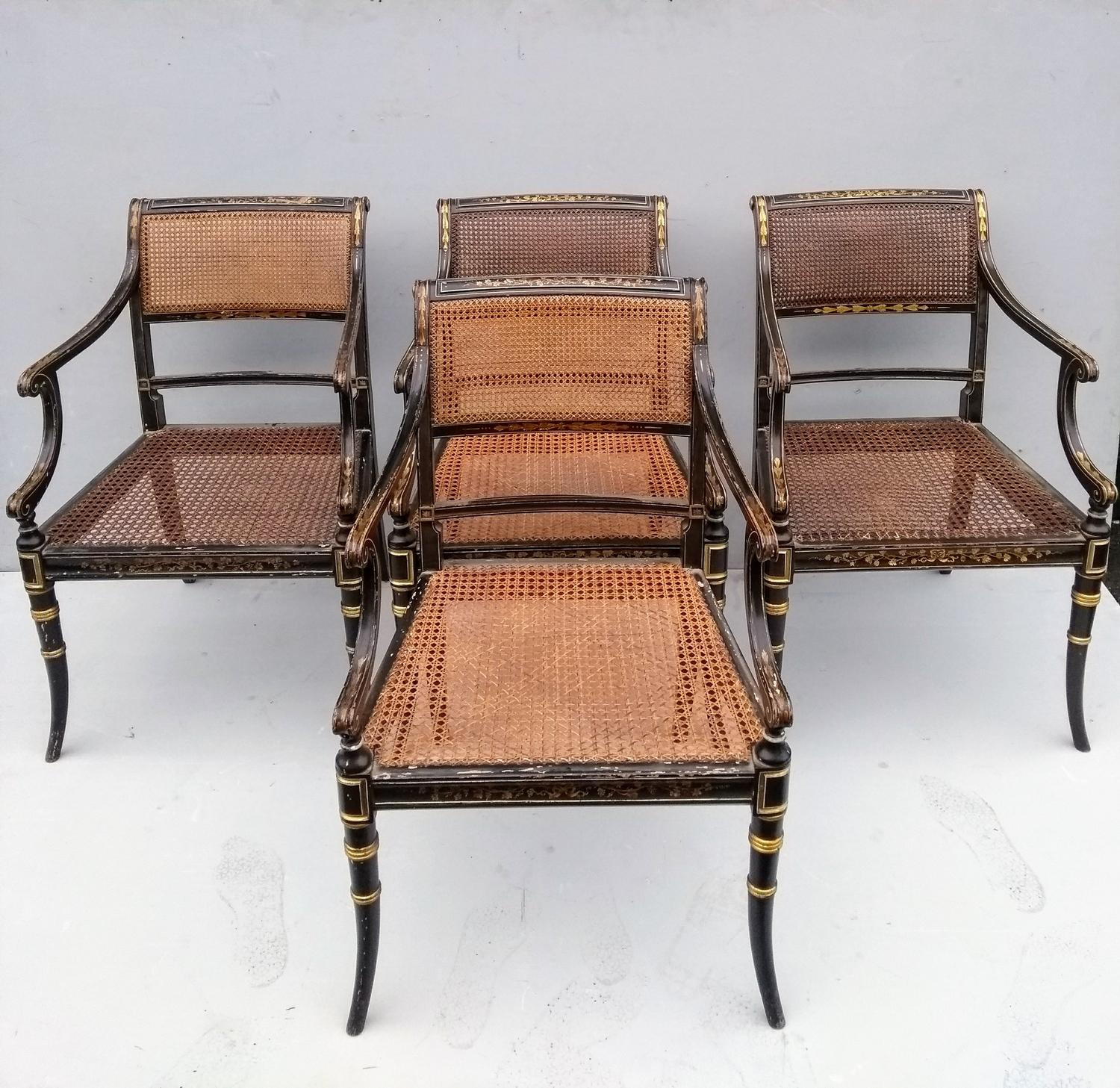Set of four Regency Carver chairs - £2,450