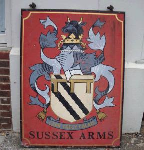 Sussex arms sign - £250