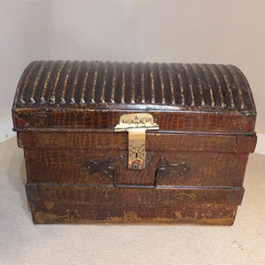 19c Tin Travelling Trunk - £85