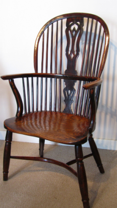 Yew Windsor armchair - £1,295