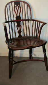Yew Antique Windsor Armchair - £695