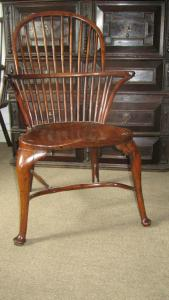Yew Windsor armchair - £1,500
